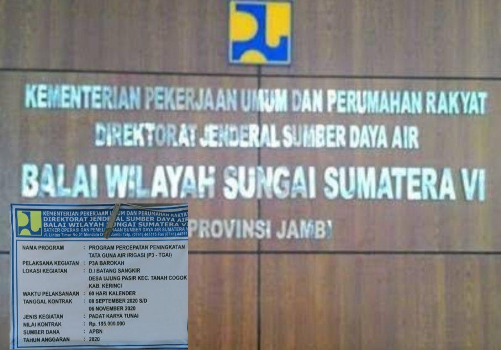 Balai Wilayah Sungai Sumatera (BWSS) VI Tak Serius Soal Spesifikasi Teknis, Contoh P3A Ujung Pasir Terkesan Dikerjakan Asal-Asalan