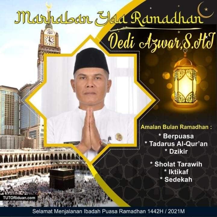 Pemerintah Desa Koto Lolo, Sungai Penuh, Mengucapkan Selamat Ramadhan 1442 H