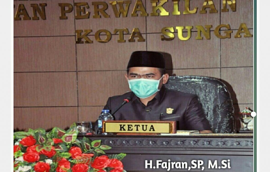 Ketua DPRD H. Fajran, Ajak Masyarakat Dukung Program Kerja 100 Hari Walikota Sungaipenuh