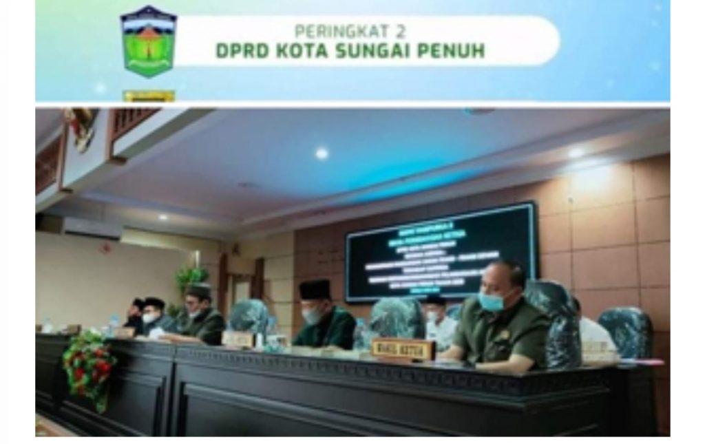 DPRD Kota Sungai Penuh Raih Penghargaan Nirwasita Tantra