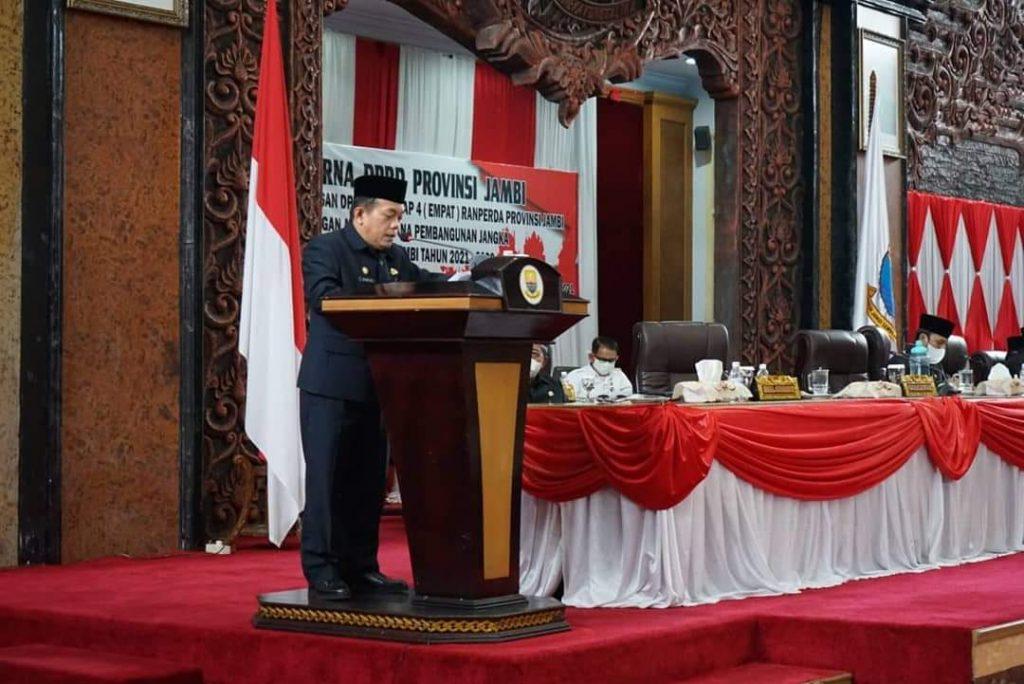 Hadiri Rapat Paripurna DPRD Provinsi Jambi, Al Haris Sampaikan Program Dumisake