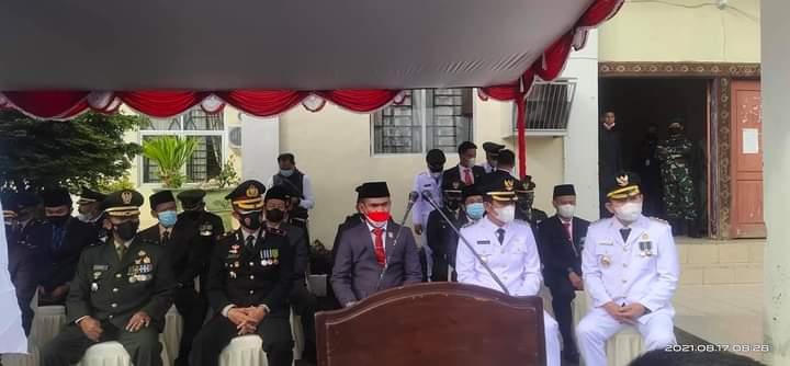 Ketua DPRD H. Fajran Bacakan Teks Proklamasi Pada HUT Kemerdekaan Ke 76